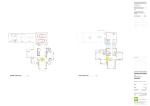 (SK)011 GROUND & FIRST FLOOR PLANS(red)